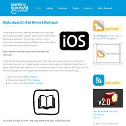 Myths about iOS, iPad, iPhone & iPod touch