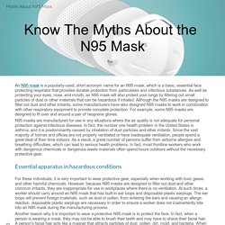 Know The Myths About the N95 Mask