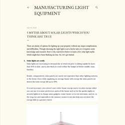 5 myths about solar lights which you think are true