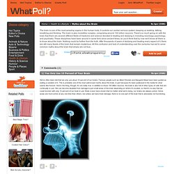 Myths about the Brain