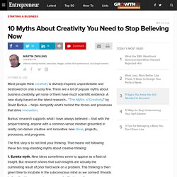 10 Myths About Creativity You Need to Stop Believing Now
