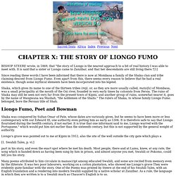 Myths and Legends of the Bantu: Chapter X: The Story of Liongo Fumo