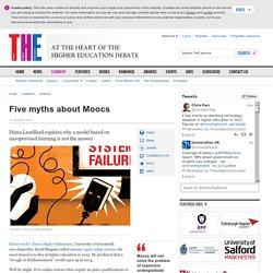 Five myths about Moocs