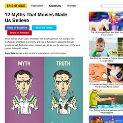 12Myths That Movies Made UsBelieve