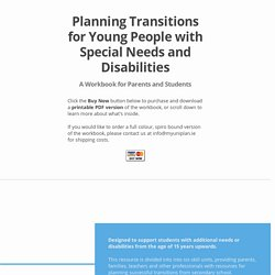 Planning transitions from school
