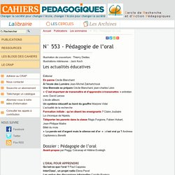 N° 553 - Pédagogie de l'oral