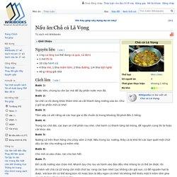 Nấu ăn:Chả cá Lã Vọng – Wikibooks tiếng Việt