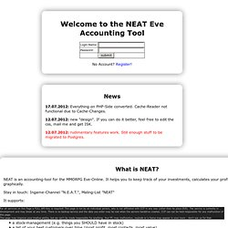N.E.A.T. Eve Accounting Tool