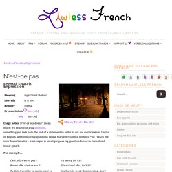 N'est-ce pas - French expression