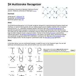 JavaScript $N Multistroke Recognizer