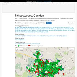 N6 postcodes, Camden