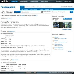 Na'vi (idioma) - Pandorapedia