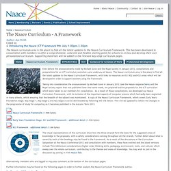 The Naace Curriculum - An ICT Framework