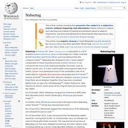 Nabaztag - Wikipedia (US)