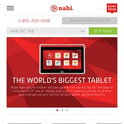 nabi Big Tab - Features - nabi - Show the world what you can do