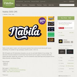 Nabila (50% Off) ~ Script Fonts on Creative Market