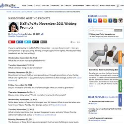 NaBloPoMo November 2011 Writing Prompts