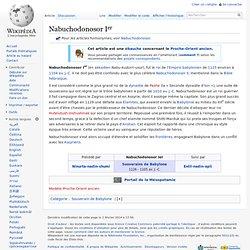 Nabuchodonosor Ier