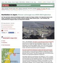 Nachbebenin Japan: Wasser schwappt aus AKW-Abklingbecken - SPIEGEL ONLINE - Nachrichten - Wissenschaft