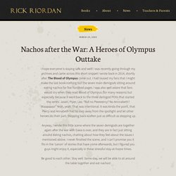 Nachos after the War: A Heroes of Olympus Outtake