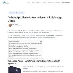 WhatsApp Nachrichten mitlesen & Konto überwachen - GeoProtecta