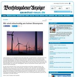 Wir sind mitschuldig am hohen Strompreis - Berchtesgadener Anzeiger - Das Nachrichtenportal des Berchtesgadener Landes und Traunsteiner Landkreises - Berchtesgadener Anzeiger