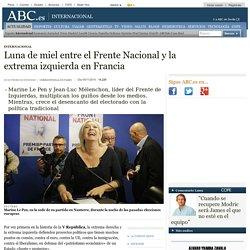 Luna de miel entre el Frente Nacional y la extrema izquierda en Francia