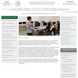 Sistema Nacional de Registro del Servicio Profesional Docente