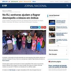 Jornal Nacional - No RJ, senhoras ajudam a flagrar desrespeito a idosos em ônibus