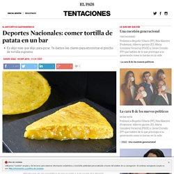 Deportes Nacionales: comer tortilla de patata en un bar