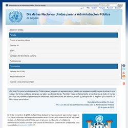 Día de las Naciones Unidas para la Administración Pública - 23 de junio