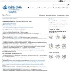 NACIONES UNIDAS DERECHOS HUMANOS, Oficina del Alto Comisionado América del Sur