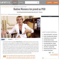 """Nadine Morano s'en prend au PEGI - """"Les politiques prennent les joueurs pour des cons"""" : JC Larue"""