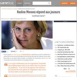 Nadine Morano répond aux joueurs - La polémique s'apaise ?