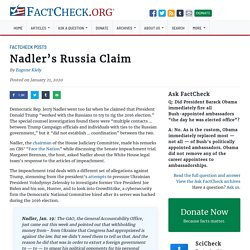 Nadler's Russia Claim