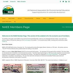 NAEE Members Page - UK NAEE