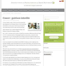 Cancer : guérison interdite