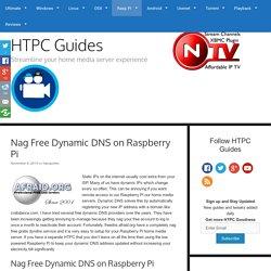 Nag Free Dynamic DNS on Raspberry Pi
