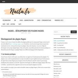 NAGIOS – développement des plugins NAGIOS – Nacta.fr