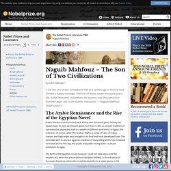 Naguib Mahfouz – The Son of Two Civilizations