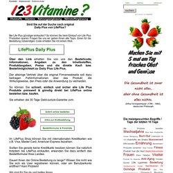 DAILY PLUS LifePlus Nahrungsergänzung bestellen kaufen - 123Vitamine