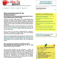 Nahrungsergaenzungen oder Vitalstoffe fuer die Stoffwechselkur? - To-Ma-Te News