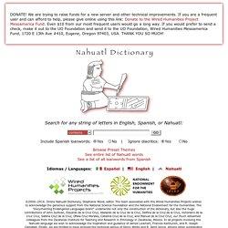 Nahuatl Dictionary/Diccionario del náhuatl