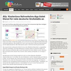 Ally: Nahverkehrs-App mit Routen-Sharing und Watch-Support