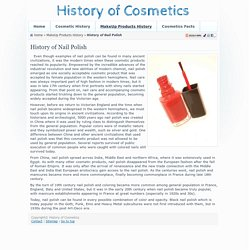 Nail Polish History - Who invented Nail Polish