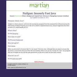 Nailgun: Insanely Fast Java