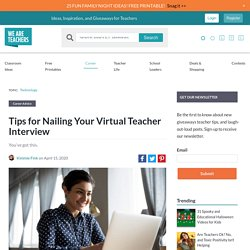 Tips for Nailing Your Virtual Teacher Interview (WeAreTeachers)