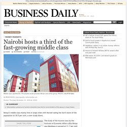Nairobi hosts a third of the fast-growing middle class