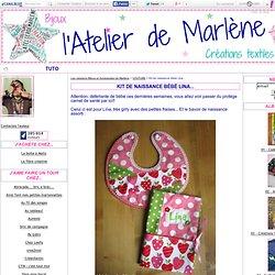 Kit de naissance bébé Lina... - Les créations Bijoux et Accessoires de Marlène