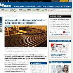Naissance du 1er site français d'essai en mer pour les énergies marines